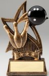 Star Series Sculpted Antique Gold Resin Trophy -Bowling Star Series Sculpted Antique Gold Resin Trophy Awa