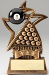 Star Series Sculpted Antique Gold Resin Trophy -Billiards Star Series Sculpted Antique Gold Resin Trophy Awa