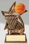Star Series Sculpted Antique Gold Resin Trophy -Basketball Star Series Sculpted Antique Gold Resin Trophy Awa
