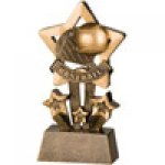 Star Resin Awards -Baseball Star Step Resin Trophy Awards