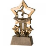 Star Resin Awards -Gymnastics Star Step Resin Trophy Awards