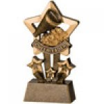 Star Resin Awards -Cheerleader Star Step Resin Trophy Awards