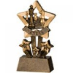 Star Resin Awards -Chess  Star Step Resin Trophy Awards