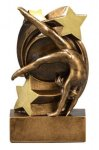 Star Swirl Award -Gymnastics Star Swirl Resin Trophy Awards