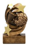 Star Swirl Award -Cheer Star Swirl Resin Trophy Awards