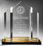 Triple Peak Top Color Accented Acrylic Award Summit Awards