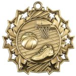 Ten Star Medal -Basketball Ten Star Medal Awards