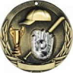 Tri-Colored Series Medals -Baseball  Tri-Colored Medal Awards