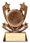 Twin Stars Resin Award -Mylar Twin Stars Resin Trophy Awards