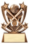 Twin Stars Resin Award -Baseball Twin Stars Resin Trophy Awards
