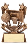 Twin Stars Resin Award -Basketball Twin Stars Resin Trophy Awards