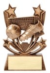 Twin Stars Resin Award -Soccer Twin Stars Resin Trophy Awards