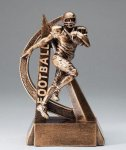 Ultra Action Series Sculpted Antique Gold Resin Trophy -Football Ultra Action Resin Trophy Awards