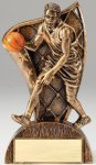 USA Flag Series Resin Trophy -Basketball Male  USA Flag Series Sculpted Antique Gold Resin Trophy