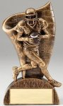 USA Flag Series Resin Trophy -Football Male  USA Flag Series Sculpted Antique Gold Resin Trophy