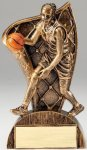 USA Flag Series Resin Trophy -Basketball Female  USA Flag Series Sculpted Antique Gold Resin Trophy
