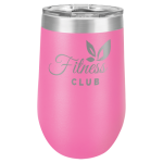 Double Wall Insulated Stemless Tumbler -Pink Wine Gifts