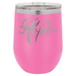 Double Wall Insulated Stainless Steel Stemless Wine Glass -Pink Wine Gifts