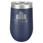 Double Wall Insulated Stemless Tumbler -Navy Blue Wine Gifts