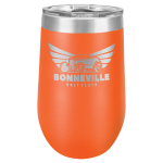 Double Wall Insulated Stemless Tumbler -Orange  Wine Gifts
