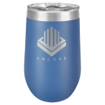 Double Wall Insulated Stemless Tumbler -Blue Wine Gifts