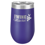 Double Wall Insulated Stemless Tumbler -Purple Wine Gifts
