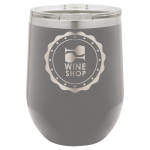Double Wall Insulated Stainless Steel Stemless Wine Glass -Dark Gray Wine Gifts