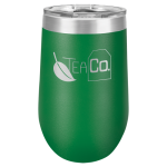 Double Wall Insulated Stemless Tumbler -Green Wine Gifts
