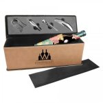 Leatherette Single Wine Box with Tools -Light Brown Wine Gifts