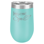 Double Wall Insulated Stemless Tumbler -Teal Wine Gifts