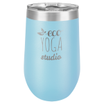 Double Wall Insulated Stemless Tumbler -Light Blue Wine Gifts