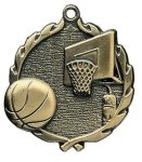 Wreath Medal -Basketball Wreath Medal Awards